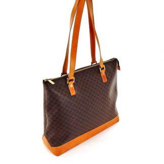 a2bd8b1c94bc6 1:1 Céline Designer Replica Vintage Shopper Xl Brown Macadam Canvas Leather  Shoulder Bag high quality designer replica handbags