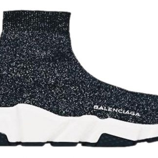 63e04db9ccc Best Cheap Balenciaga 1:1 Mirror Replica Black Speed Trainers Lurex 38  Sneakers fake balenciaga replica triple s for sale