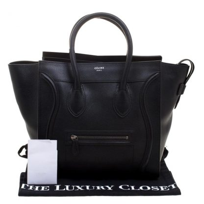 fe762b3d052 Cheap Designer Handbags Céline Knockoff Luggage Mini Black Suede Leather  Tote celine bag price