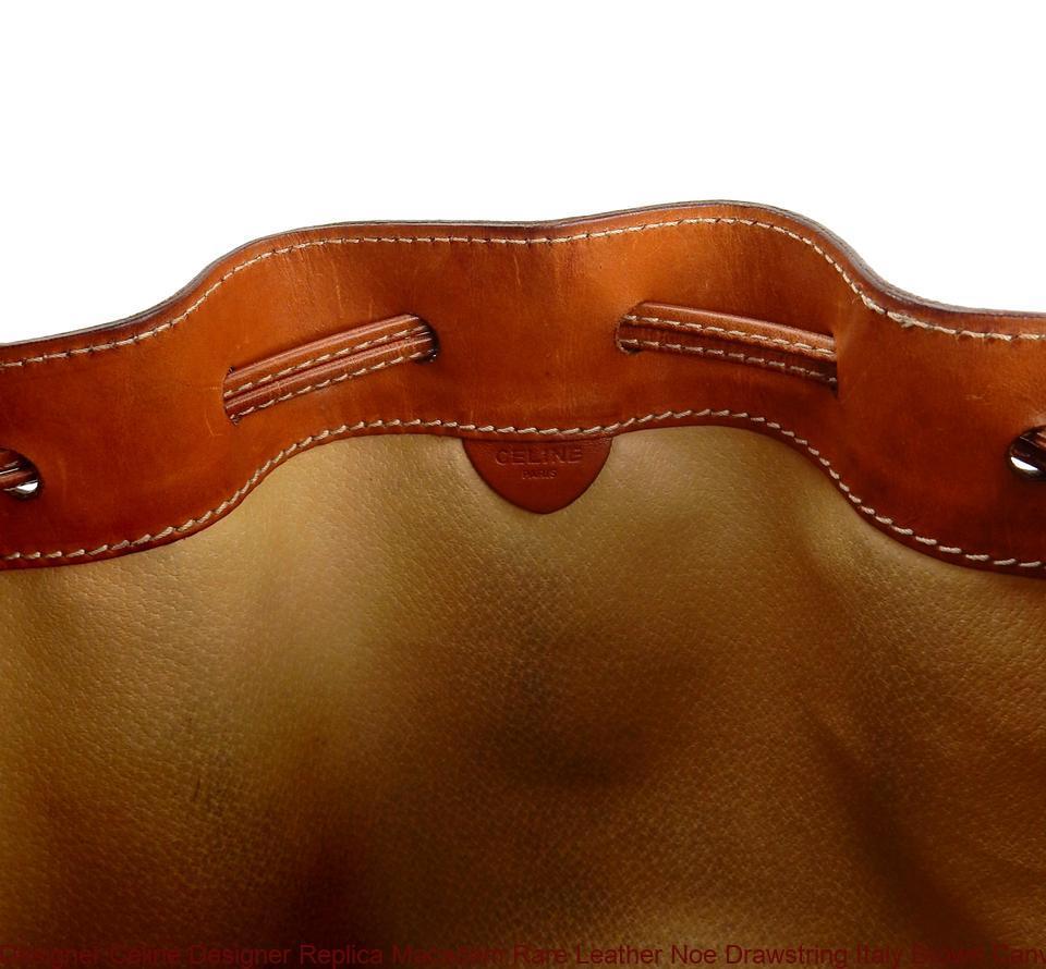 Designer Céline Designer Replica Macadam Rare Leather Noe Drawstring Italy  Brown Canvas Shoulder Bag celine crossbody dabfb2f38cbf9