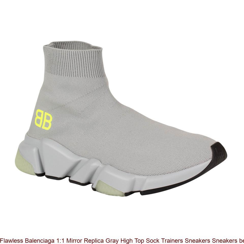 e97e23e794e Flawless Balenciaga 1:1 Mirror Replica Gray High Top Sock Trainers Sneakers  Sneakers best replica handbags 2018