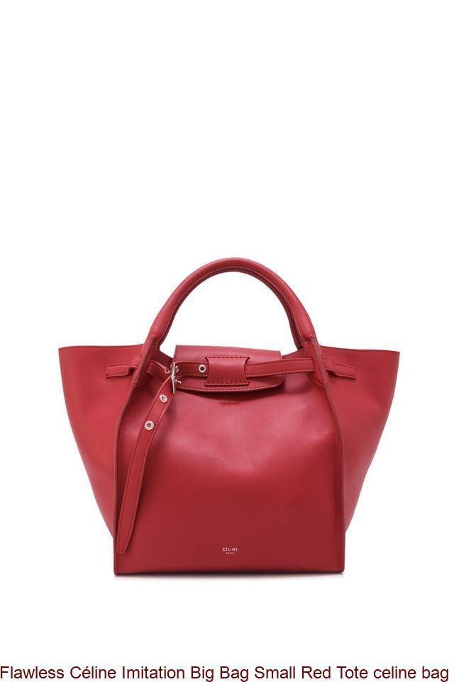 Flawless Céline Imitation Big Bag Small Red Tote celine bag replica ... 21daa1cc30a50
