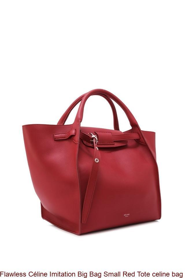 Flawless Céline Imitation Big Bag Small Red Tote celine bag replica ... 67400486146ea