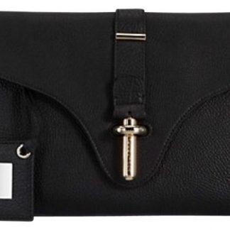 0b9fc5d184c0 High Quality Balenciaga 1 1 Mirror Replica Tube Pochette M Black Leather  Clutch balenciaga bag pink