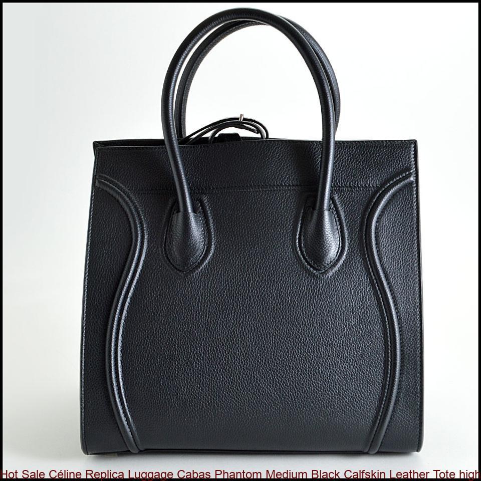 1c22dcd92 Hot Sale Céline Replica Luggage Cabas Phantom Medium Black Calfskin Leather  Tote high quality replica handbags china