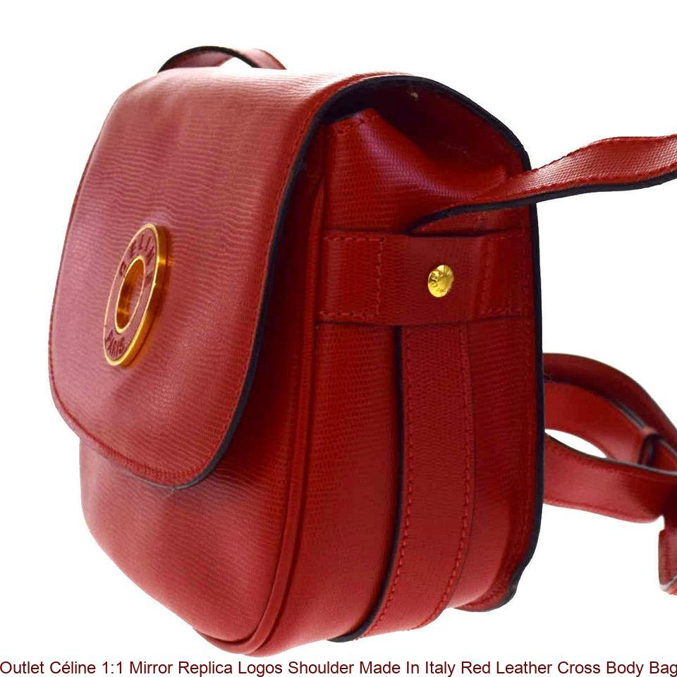 f39e49ea9cc0 Outlet Céline 1 1 Mirror Replica Logos Shoulder Made In Italy Red Leather  Cross Body Bag celine