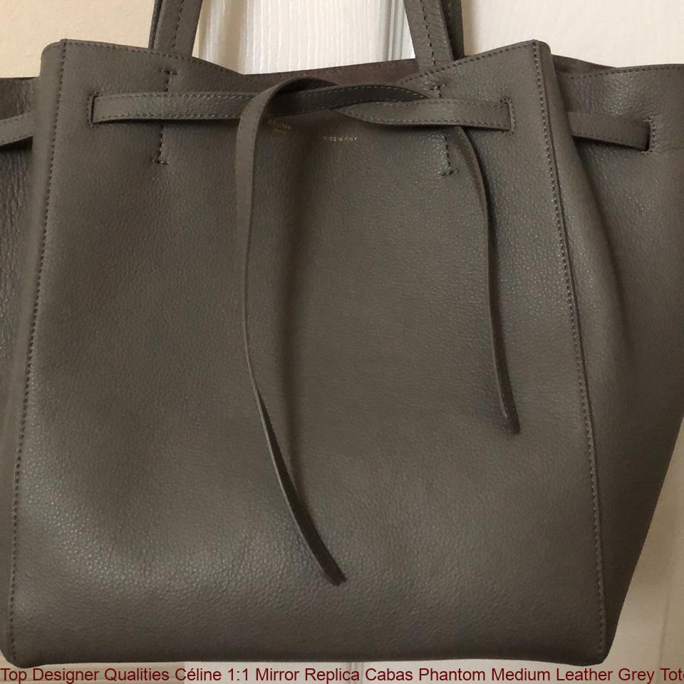 d0bdc1aafe8 Top Designer Qualities Céline 1:1 Mirror Replica Cabas Phantom Medium  Leather Grey Tote handbags replica