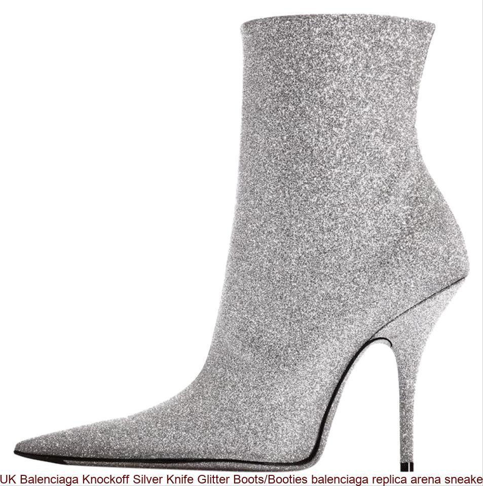 82fd9e2d4a0 UK Balenciaga Knockoff Silver Knife Glitter Boots/Booties balenciaga replica  arena sneakers for sale